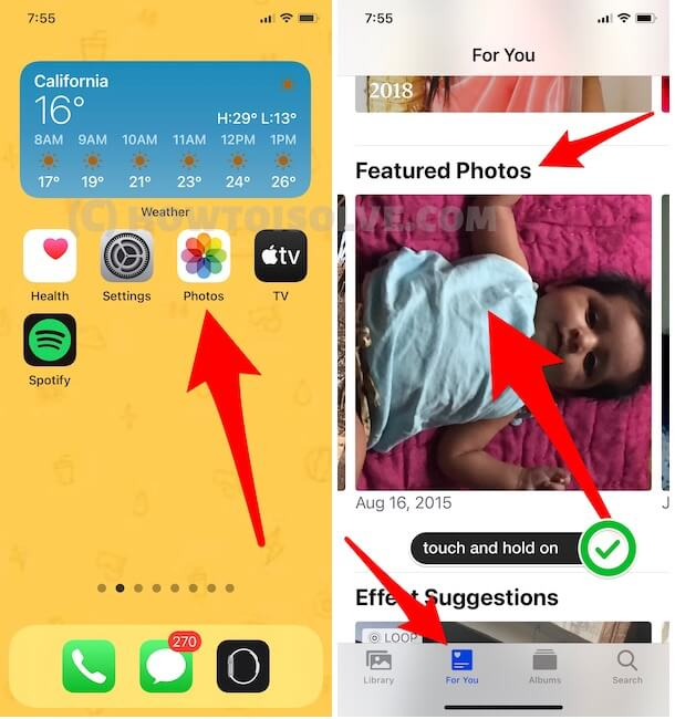 Remove from Featured Photos for Photos widget