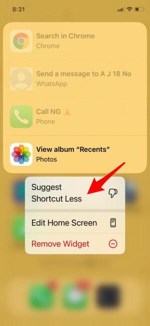 Suggest Shortcut Less