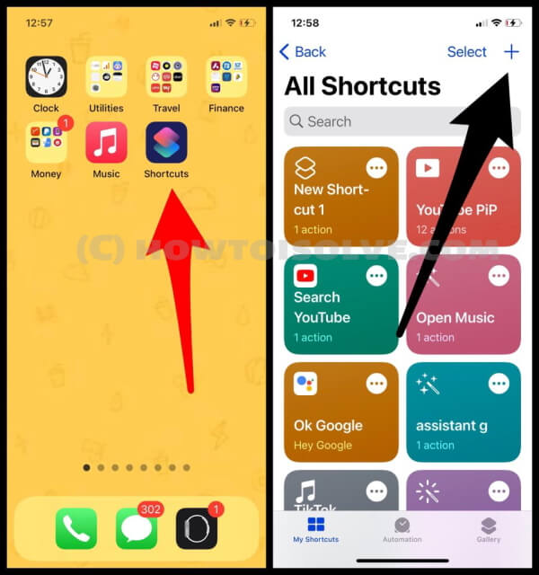 create a new shortcut on iphone (1)