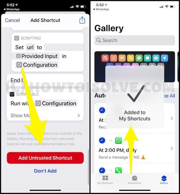 Install PIP shortcut on iPhone for Youtube
