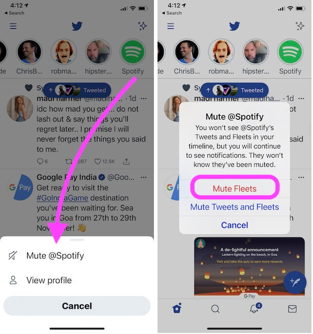 mute spotify quickly way