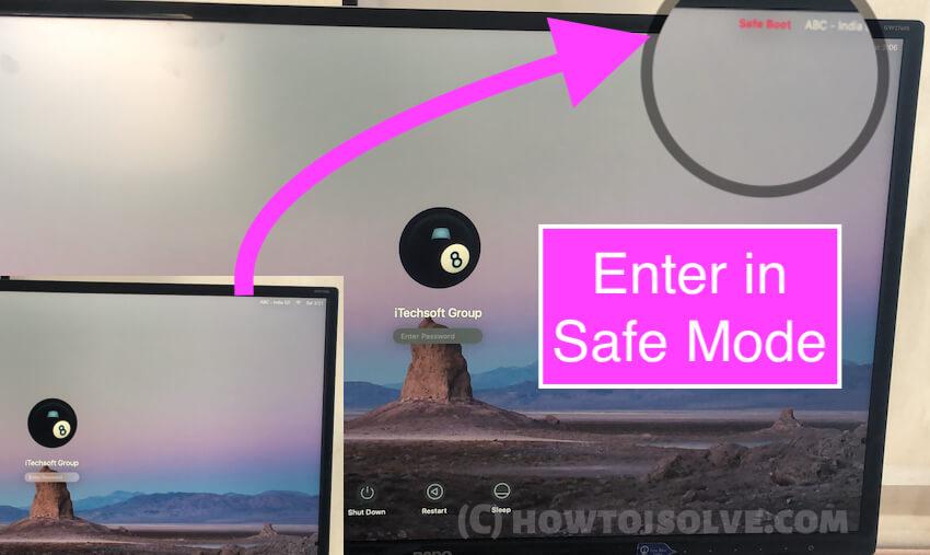 Enter in safe mode on Mac
