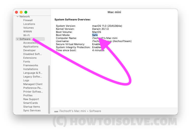 Get the System Information and Boot mode on Mac