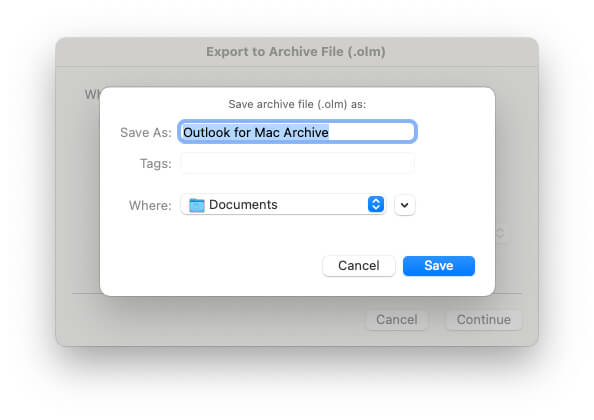 Select Drive on Mac to Export all the Email Backup