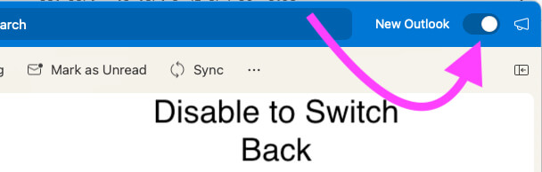 Switch Back to Earlier Microsoft Outlook on Mac