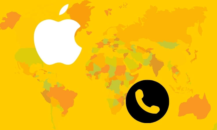 Apple Devices support on Phone call number