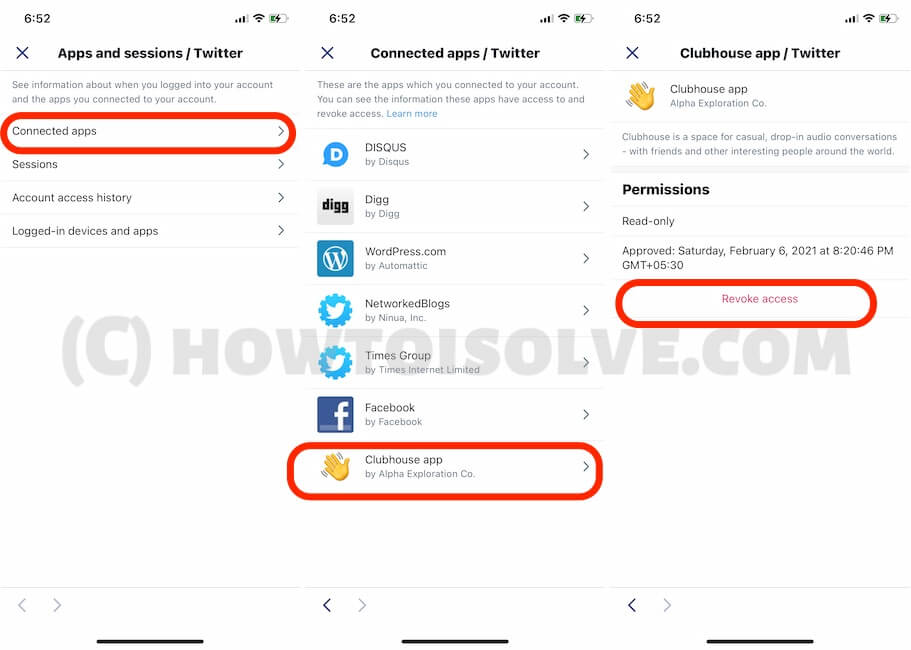 Remove Account from Twitter app