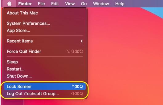 Switch User account on Mac
