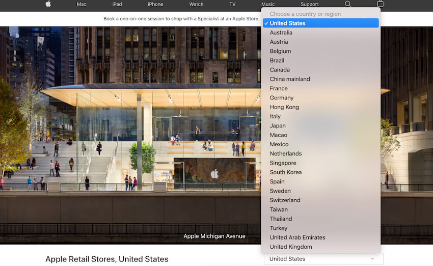 quickly find Apple Retail Store near Me