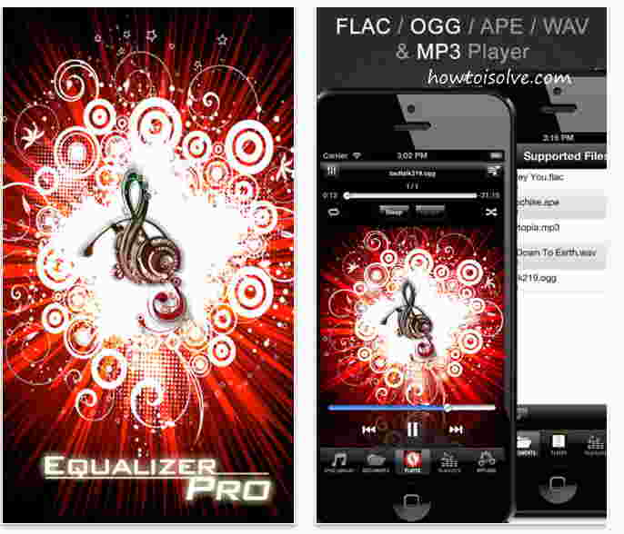 Equalizer Pro free for Apple iPhone, iPad, iPod