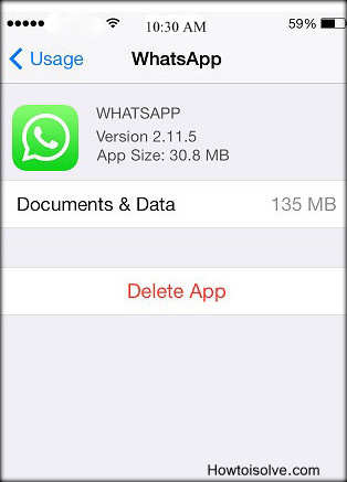 Apps whatsapp take more space