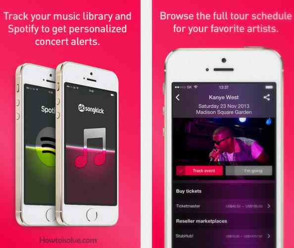 Awesome iOS music apps Songkick