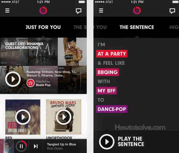 Grate Beats music apps for iOS