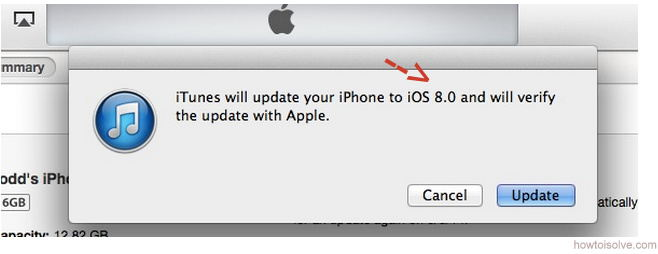 Message before install iOS 8 in iPhone, iPad start