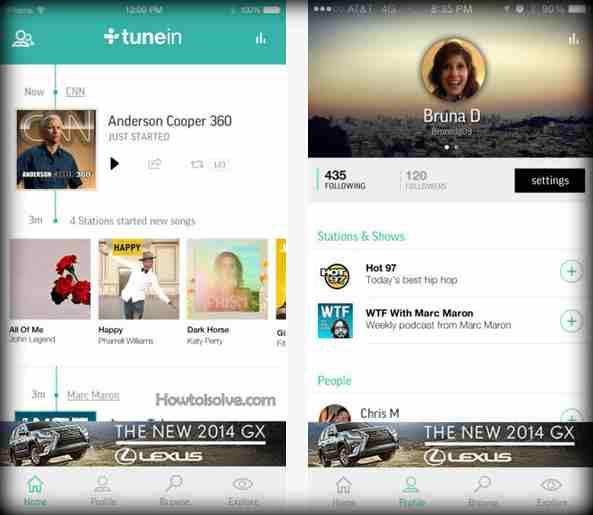 Nice iOS Music apps Tuneln radio