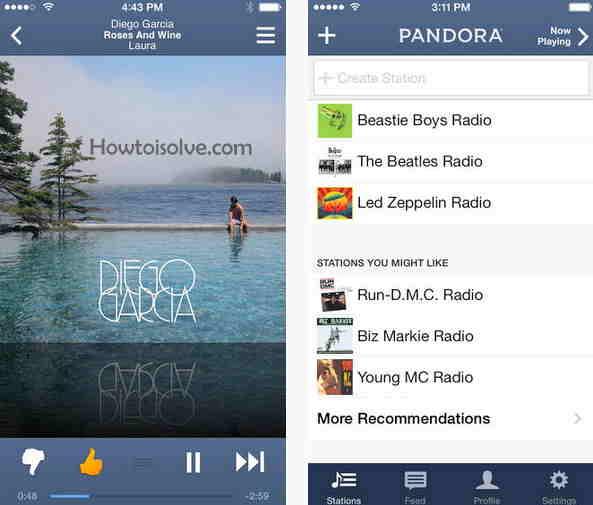 Pandora best music apps for iOS
