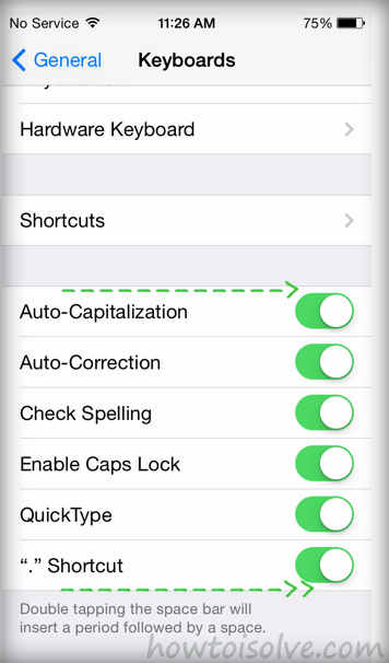 Quick type options with added features in iOS 8 beta 3