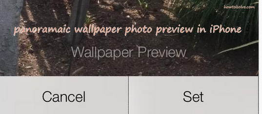 Set panoramic photo in iPhone home screen