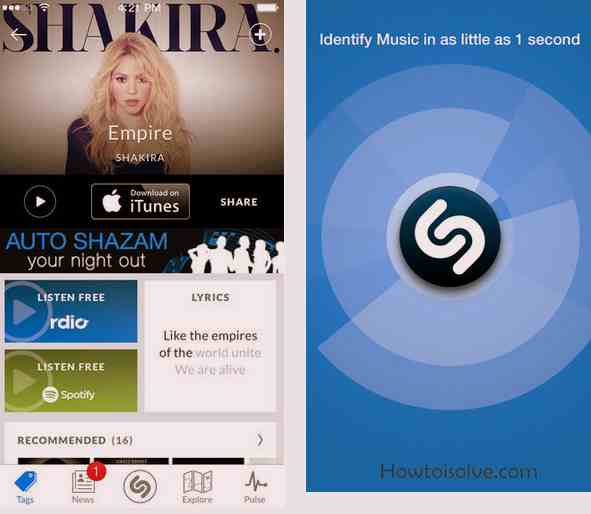 Shazam 5Star Music apps of iOS
