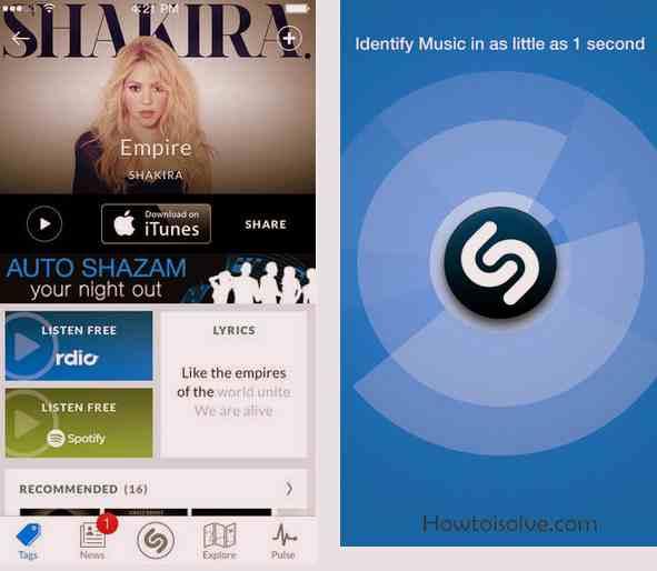 Shazam 5Star Music apps of iOS