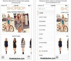 Shopbop best fashipn apps for iPhone