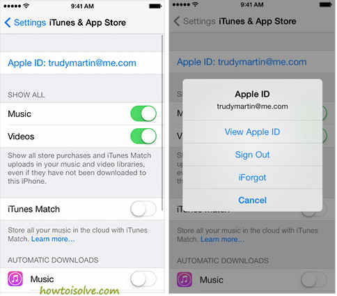 SignOut from iOS Device To deactivate apple account