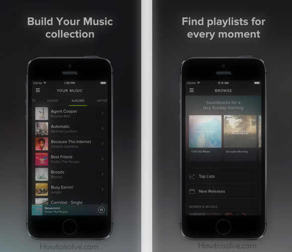 free Music apps: Spotify Best Music app for iOS device