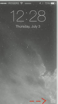 Tap camera icon from lock scree in your iPhone