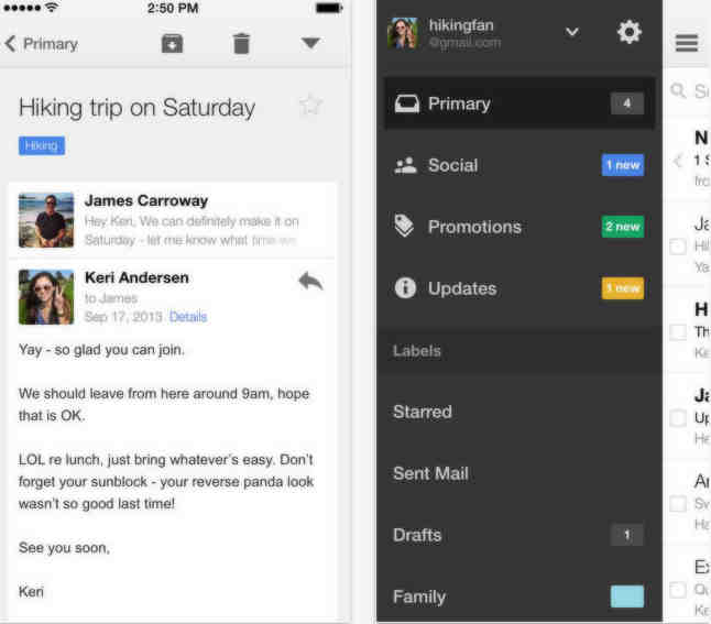 Update Gmail app for iPhone and iPad