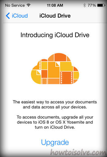 iCloud update notification after install iOS 8 in your IOS device.bmp