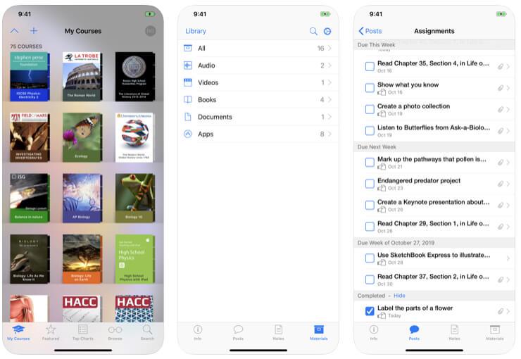 iTunes U that make classroom together