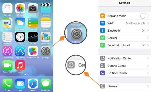 General settings in your iDevice