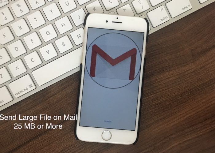 1 Send large file from iPhone and iPad