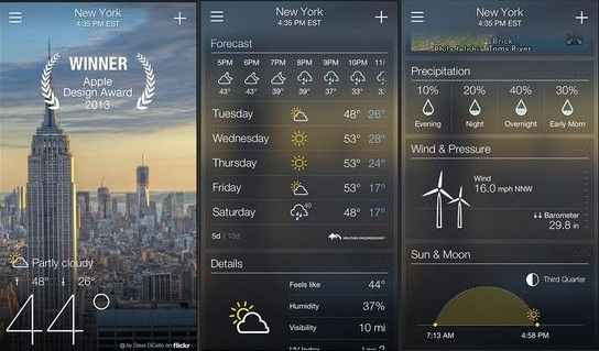 Accurate weather Apps for iPhone - Yahoo Weather