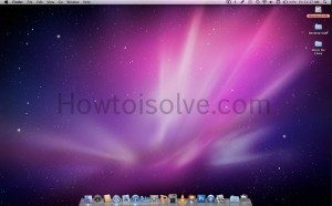 Home screen of Mac