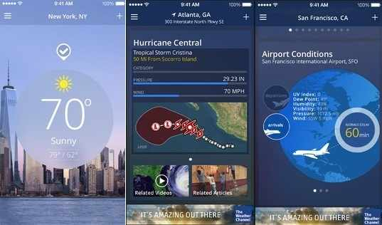 Accurate weather Apps for iPhone - The Weather Channel