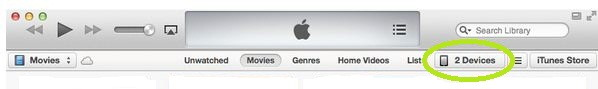 Show iDevice in iTunes