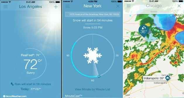 Accurate weather Apps for iPhone - AccuWeather