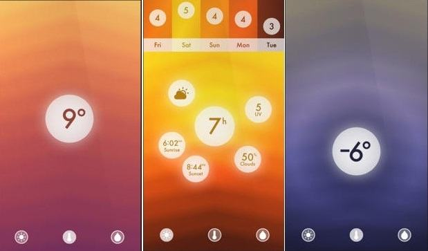 Accurate weather Apps for iPhone - Haze