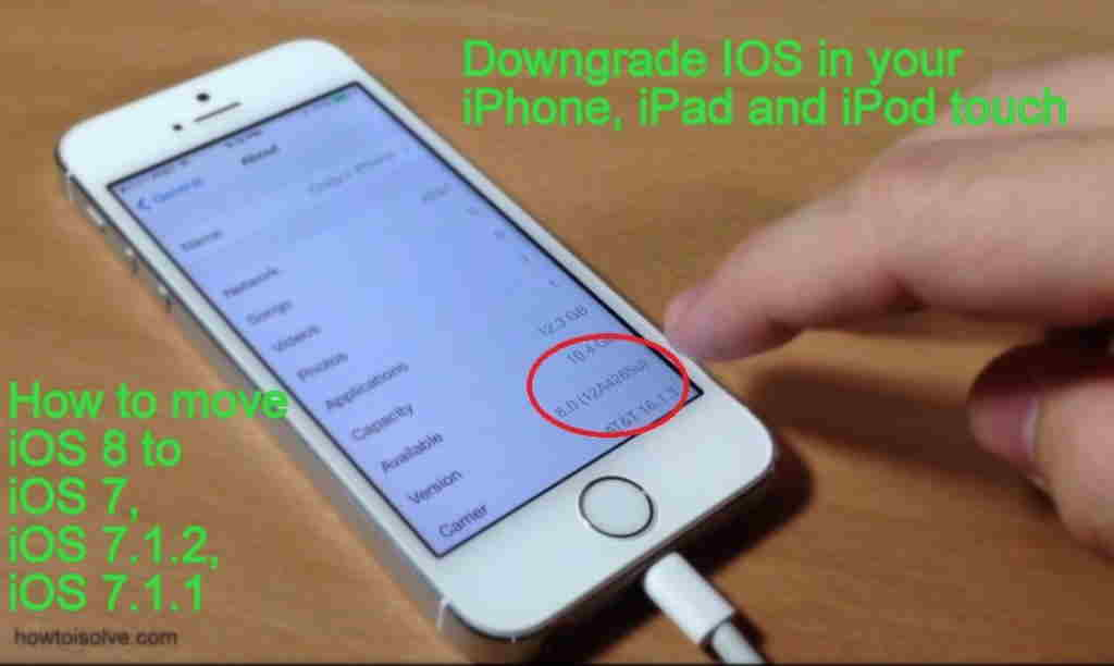 downgrade iOS 8 to iOS 7 in iPhone and iPad