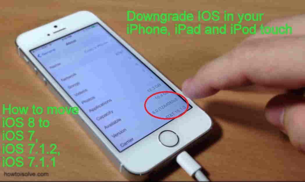 setup for iOS 8 to iOS 7, iOS 7.1.2