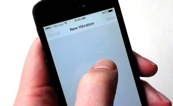 Customized vibrate on iPhone, iPad