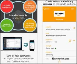 Dashlane Password manager app for iPhone and iPad