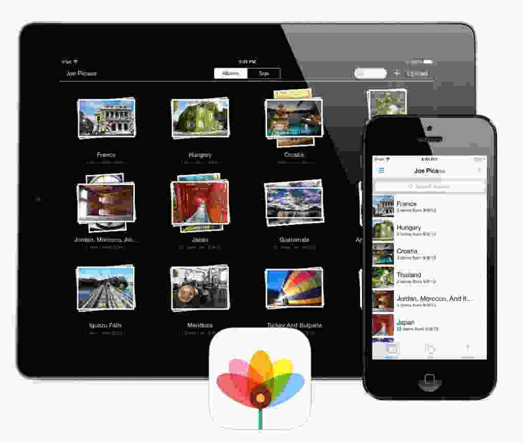 Manage photos as album in iPhone, iPad without any app