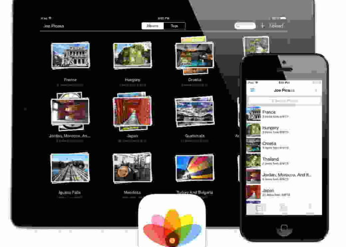 arrange photos as album in iPhone, iPad without any app