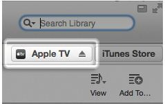 Search Apple TV in iTunes search box