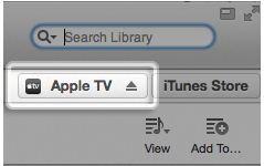 Search Apple TV in iTunes search box