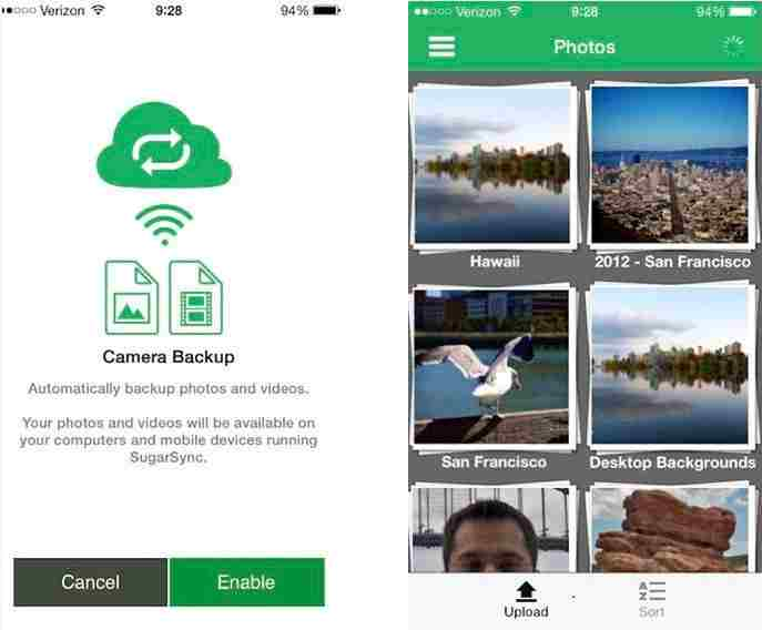 SugurSync - Best app for Cloud storage - iOS 7 - iOS 8