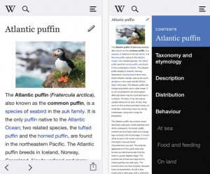 Use Revamped wikipedia for iPhone