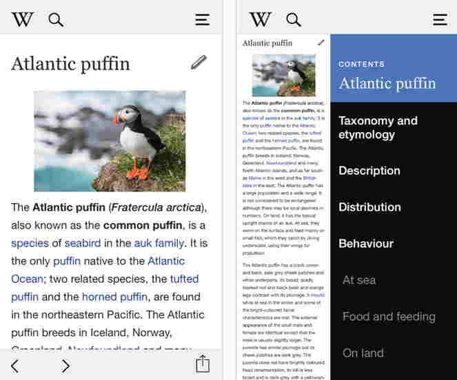 Revamped wikipedia app for iPhone